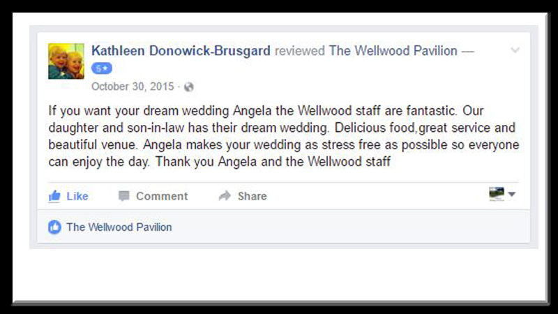 dream wedding testimonial Wellwood