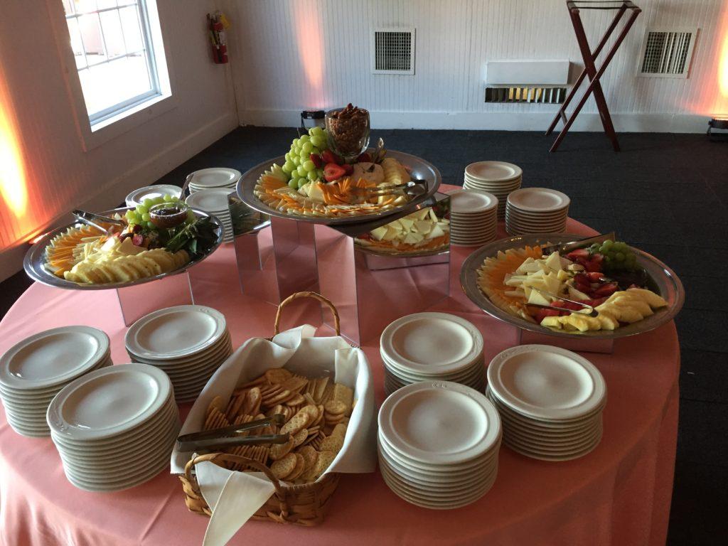 wedding cold snack table Wellwood Maryland