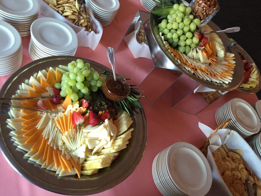 wedding snack table cheese plate Wellwood Maryland