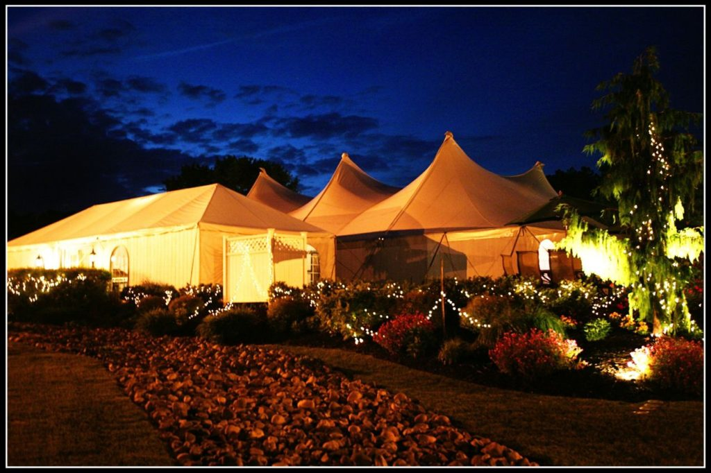 Wellwood wedding Pavilion at night