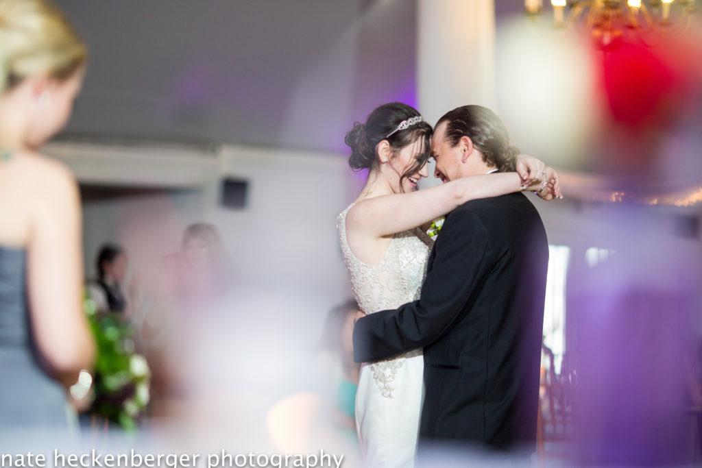 Wedding dance at Wellwood's wedding pavilion in Maryland