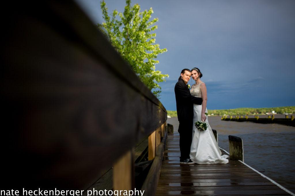 Wedding vows taken at Wellwood's wedding pavilion in Maryland
