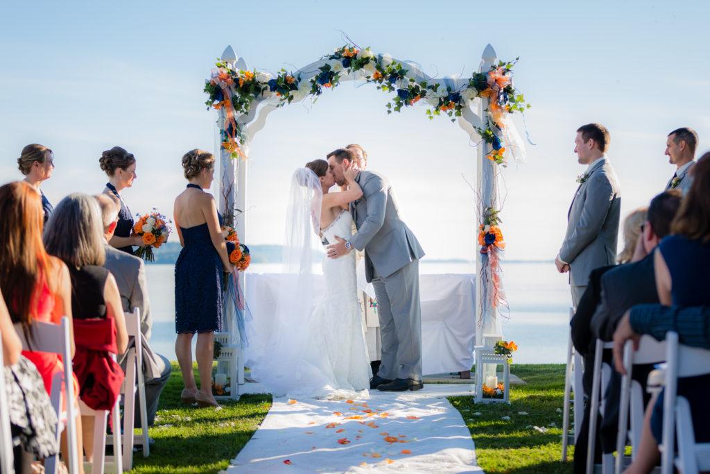 Wedding Vows taken in Waterfront Wedding MD