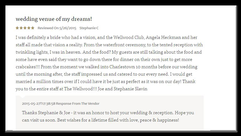testimonial wedding venue Wellwood