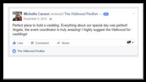wedding testimonial customer feedback Wellwood