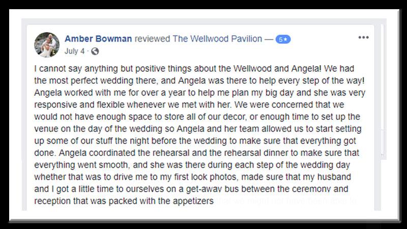 Wedding Testimonial frame Amber